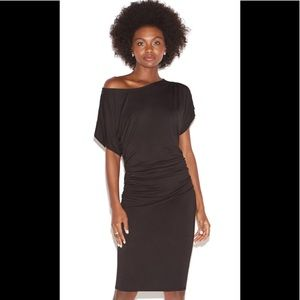 NWT Shoe Dazzle Off the Shoulder Knit Dress in Blk